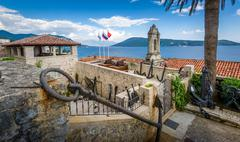 Fotre Mare ancient fortress on the Adriatic sea Stock Photos