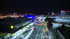 Aircraft & Traffic arriving at International airport (Timelapse) Stock Footage