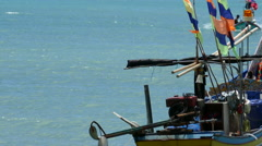 Thai Longtail Boat in Turquoise Waters Stock Footage