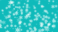 Falling snowflakes, snow. Seamless loop. Computer generated motion background - stock footage