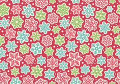Bright Fun Seamless Christmas Winter Pattern with Snowflakes Iso - stock illustration