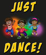 Children doing hiphop dancing - stock illustration
