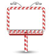 candy cane billboard on white - stock illustration