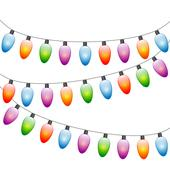 led Christmas lights isolated on white - stock illustration