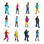 Men And Women Icons Set - stock illustration