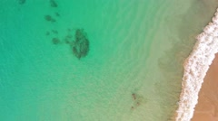 Bursting wave on a beach of clear water in the Brazilian Caribe. Stock Footage
