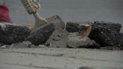 Pneumatic hammer during operation. Stock Footage