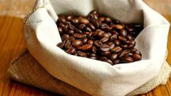 Whole Grain Domestic Black Coffee Stock Footage