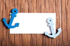 small anchor close-up - stock photo