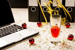 Office Christmas Party Stock Photos
