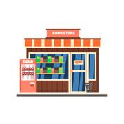 Bookshop Front. Vector Illustration - stock illustration