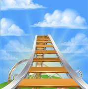 Roller Coaster Concept Stock Illustration