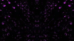 Vj House Music Club Purple Drops Animation Background - stock footage