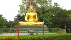 Nakprok beautiful golden Buddha Stock Footage