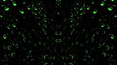 Vj House Music Club Green Drops Club Animation - stock footage