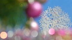Christmas and New Years Tree - stock footage