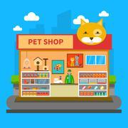 Pets Shop Concept Stock Illustration