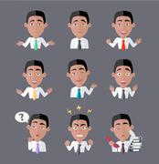 Variety of Emotions Office Worker - stock illustration