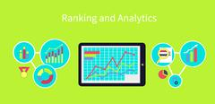 Ranking and Analytics Design Concept Stock Illustration