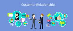Customer Relationship Concept Design - stock illustration