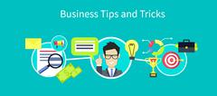 Business Tips and Tricks Design - stock illustration
