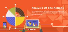 Analysis of Actions Infographic - stock illustration
