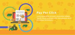 Pay Per Click Design Concept Style Stock Illustration