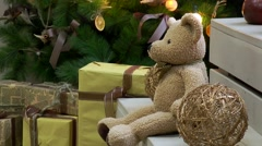 Gifts under the Christmas tree - stock footage