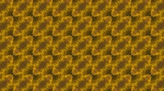 Abstract yellow kaleidoscope with flowery shade or shape Stock Footage
