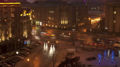 View on Smolenskaya-Sennaya hay. timelapse Stock Footage
