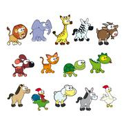 Stock Illustration of Group of funny animals.