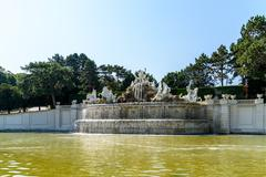 Stock Photo of Schonbrunn Palace Fountain