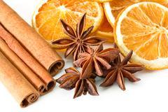Cinnamon anise oranges - stock photo