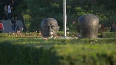 Monument of the Founding Fathers of the European Union in Bucharest Stock Footage
