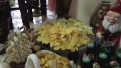Beer, chips and salted nuts. Stock Footage