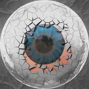 Abstract eyeball - stock illustration