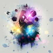 Stock Illustration of Abstract gothic woman background