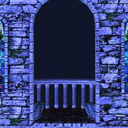 Night balcony - stock illustration