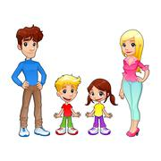 Stock Illustration of Funny family.