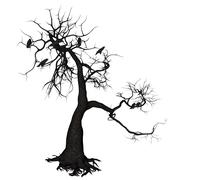 Crow Tree - stock illustration