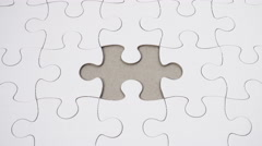 Word Association - Healthy Community - on a white jigsaw puzzle Stock Footage