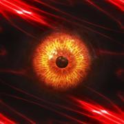 Eyeball of monster Stock Illustration