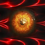 Eyeball of monster - stock illustration