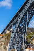 Bridge of Dom Luiz in Porto, Portugal - stock photo