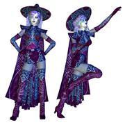 Female evil witch Stock Illustration