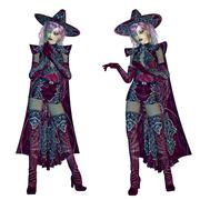 Female evil witch - stock illustration