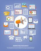 Marketing Research Icons Stock Illustration