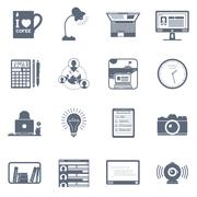 Freelance icon set - stock illustration