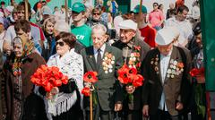 Unidentified Veterans During The Celebration Of Victory Day In B Kuvituskuvat