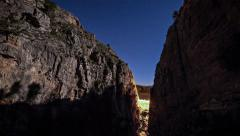 Cliff Timelapse with moving shaddows Stock Footage